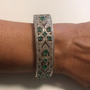 JTV Cubic Zirconia Bangle Bracelet.